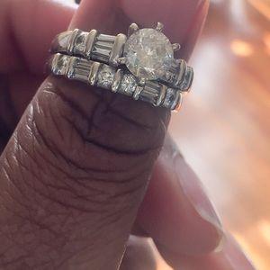 Diamond Engagement Wedding Ring Set Gabriel & Co